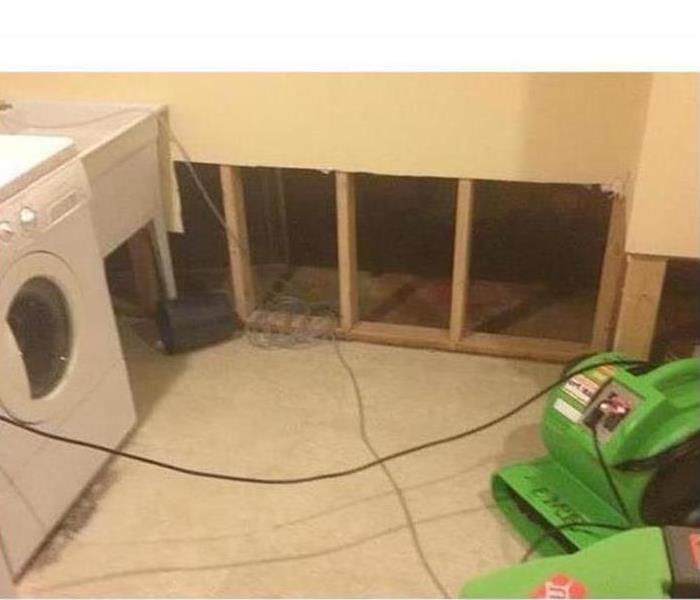 Mold Damage – Columbus Laundry Room After