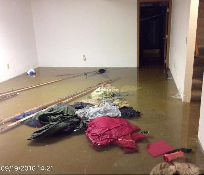 Water Damage – Columbus Basement Before