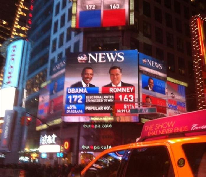 Time Square and Columbus Follow the Post Storm Elections