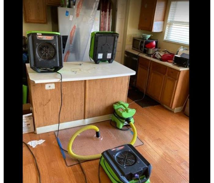 equipment set in kitchen of residential home